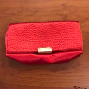 Burberry red satin bag